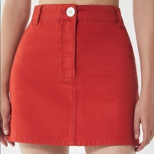 NWT Urban Outfitters BDG canvas mini skirt $59 red